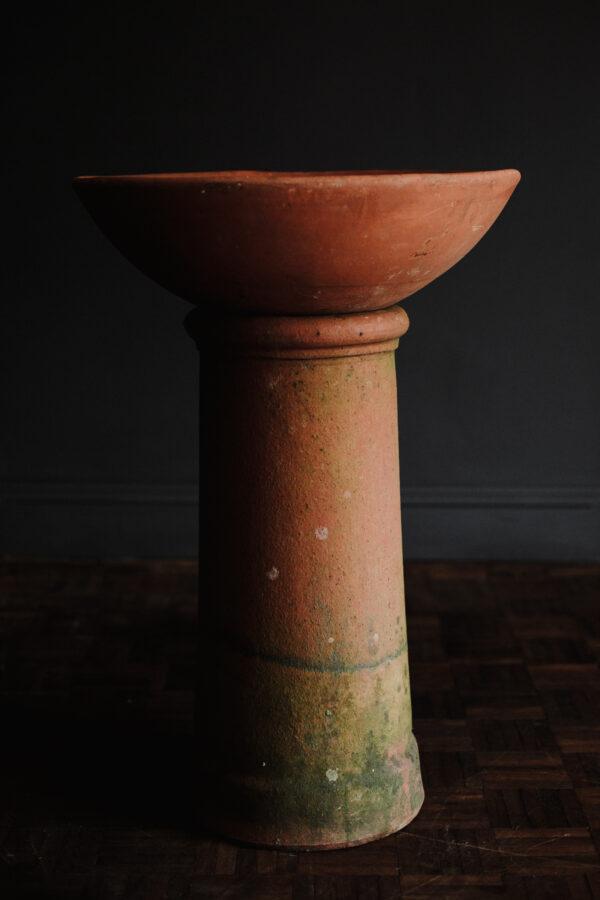 Rustic italian terracotta table top planter