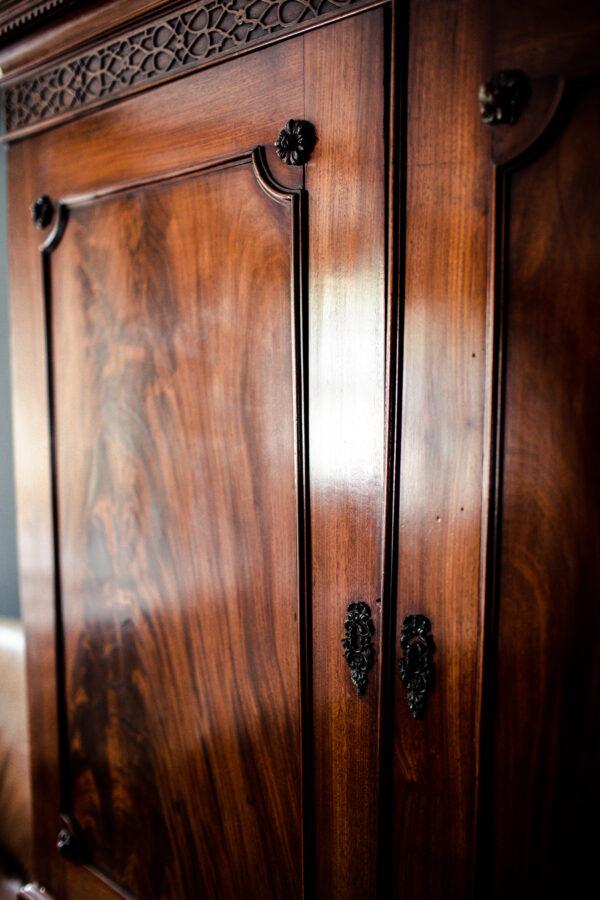 antique mahogany cupboard